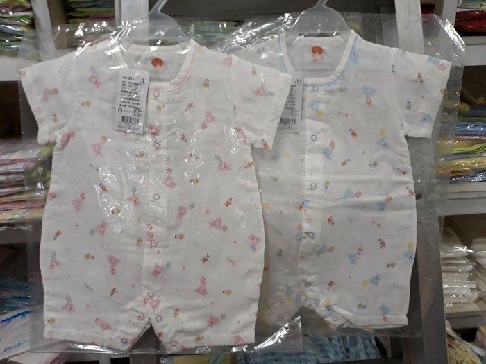 紗布衣服短袖兔衣台灣製造可愛熊圖