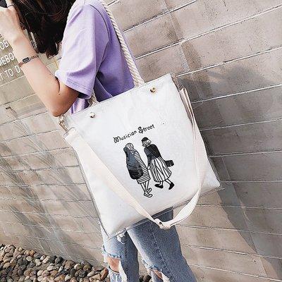 手提包 帆布包 鏈條包 百搭 水桶包 包包女 夏季新款潮大容量手提托特包韓版簡約百搭單肩包斜挎包