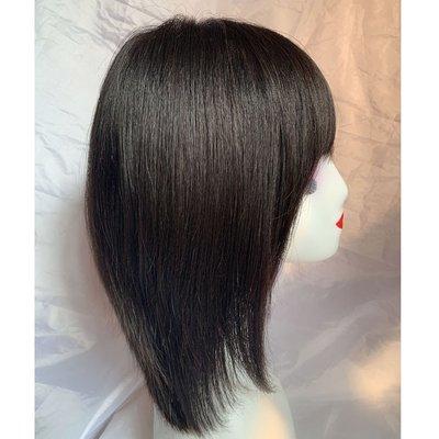 整頂假髮真髮絲長假髮-全手織直髮簡約逼真女假髮2色73vr2[獨家進口][米蘭精品]