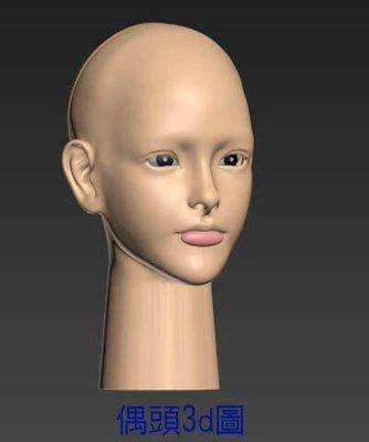 3d列印PLA材質布袋戲仙俠電玩動漫風格美女偶頭B組合套件買一組送試做套件一組