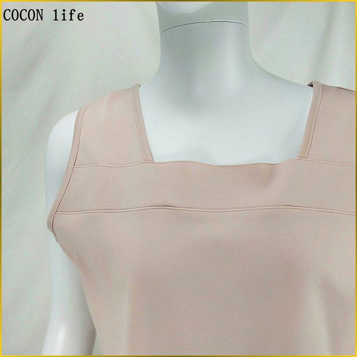 日本品牌/COCON LIFE/日本製/女 L号/無袖上衣/綿100%/防紫外線/UV加工/小可愛/背心/A0230C