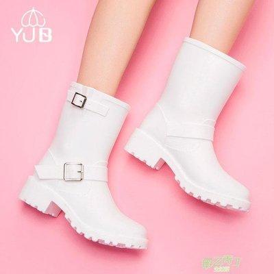 雨鞋 雨鞋女中筒春夏膠鞋成人雨靴女防滑時尚套鞋橡膠水鞋女橡膠雨靴潮  快速出貨