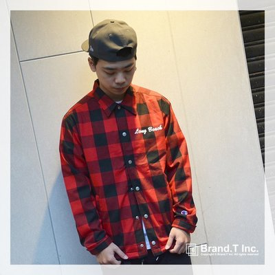 【Brand T】SALE CHAMPION COACH JACKET C3-L603-940 刺繡*格紋*教練*外套