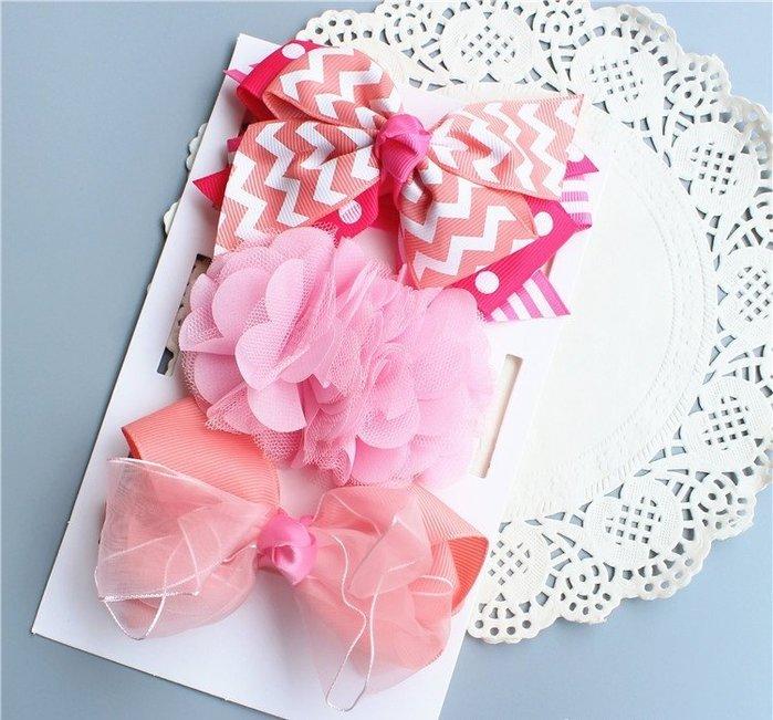 ☆草莓花園☆女童髮帶 女寶寶頭飾 嬰兒頭飾 新生婴兒禮品 滿月周歲拍照髮帶禮盒 綠色盒子