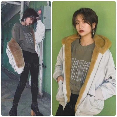 ☆NFNL☆ MOUSSY 2019晚冬早春款 軟綿綿毛QQ設計連帽MA-1飛行外套 MURUA 韓國 SLY