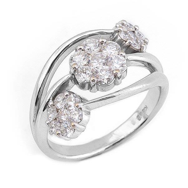 【JHT 金宏總珠寶/GIA鑽石專賣】1.30ct天然鑽石戒指/材質:18K(D000057)