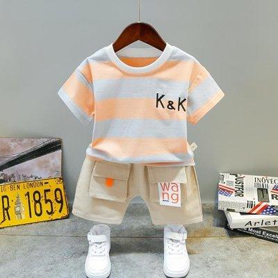 男童夏裝套裝兒童2020新款寶寶韓版洋氣潮小童帥氣短袖純棉兩件套HLDD