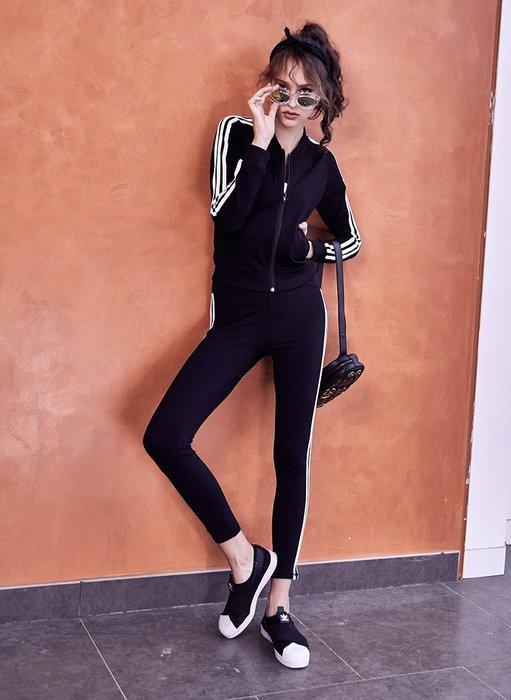 愛運動~健身運動套裝/彈力緊時貼身顯瘦排汗透氣速乾/休閒跑步瑜伽房健身套裝 R2489