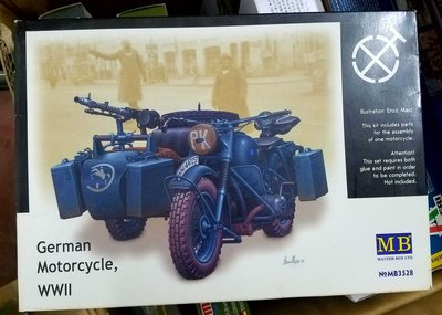 Masterbox -3528-1/35-German -Motorcycle-WWII -1/35-加3元手續費-M-250