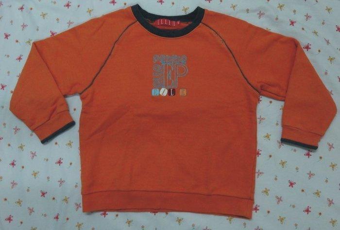 專櫃百貨品牌LEEL橘色上衣130公分/金安德森 迪士尼
