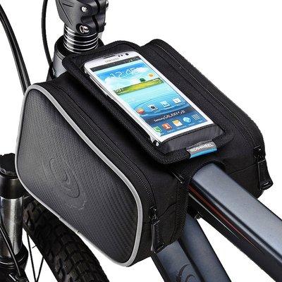 【綠色運動】ROSWHEEL樂炫 手機觸控包 配件車管包 腳踏車 車前包 上管包 車梁包 馬鞍包 車把包 雜物包 -義