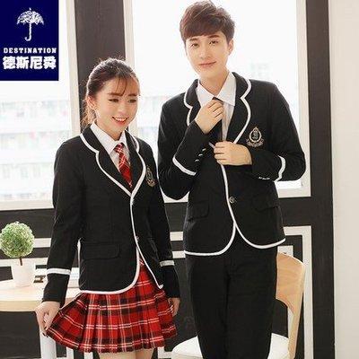 秋冬学院风学生装校服套装韩版高中大合唱西装外套班服制服男女男生款或女生款一套的價格留言板寫尺寸跟款式