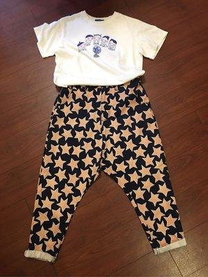 ~~Grand Market ~~100%(正)韓 一閃一閃小星星塗鴉感薄款哈倫褲 女人我最大 我的室友是九尾狐 惠利 防疫特價出清