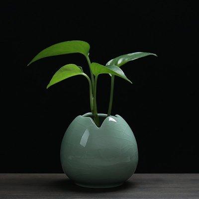 花瓶小清新青瓷客廳擺件簡約小花器家居裝飾品水培花插花瓶陶瓷    全館免運