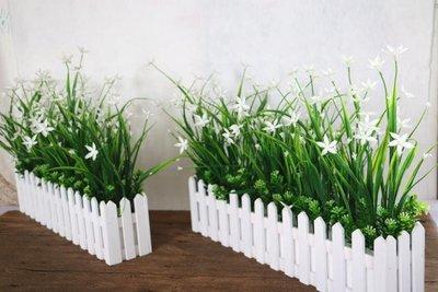 仿真綠色植物花草假花塑料花桌面隔斷擺放花藝墻角遮擋柵欄花