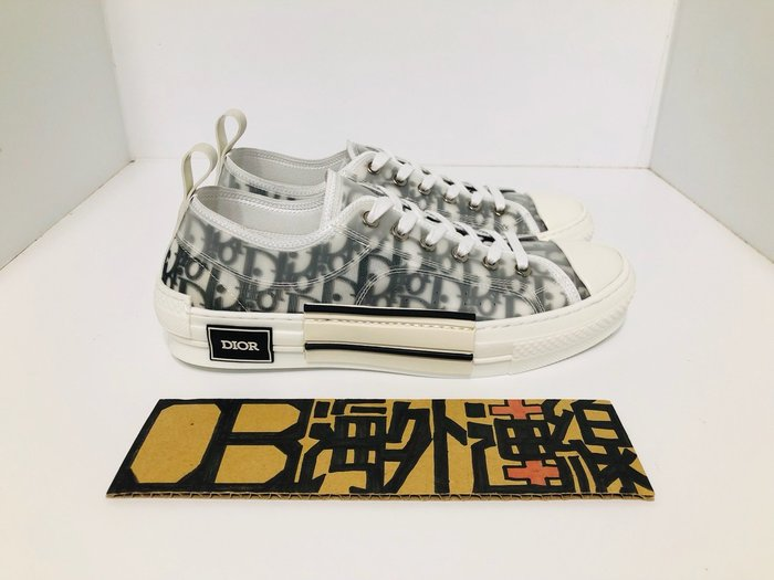 DIOR B23 TISSU OBLIQUE 半透明 老花 滿版Logo 低筒 運動鞋 Kim jones