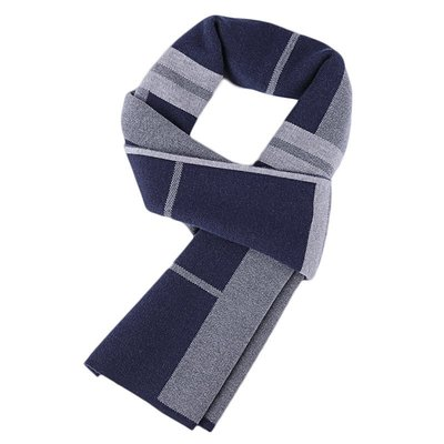 圍巾 針織披肩-羊毛商務斜條紋百搭男配件2色73wi38[獨家進口][米蘭精品]