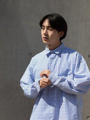 子上男裝LKSTORE BENT IDEA 21SS 春季潮流格子襯衣男 情侶款工裝外套襯衫