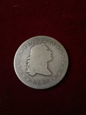 美國Flowing Hair Dollar 1795年壹圓銀幣     @02