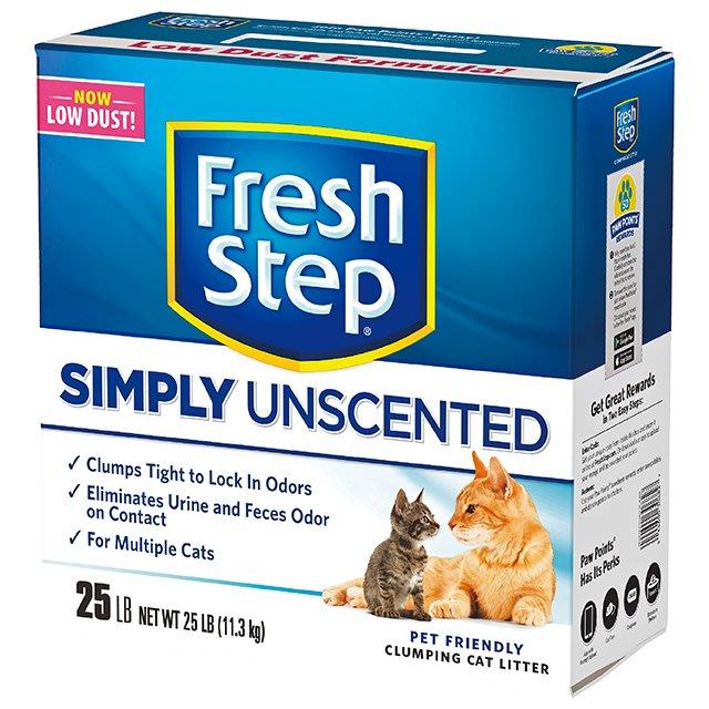 ☆寵物王子☆Fresh Step 菲麗思 水晶雙效/多貓無香/瞬效低敏 三款貓砂 礦砂 25LB/11.3KG 美國製造