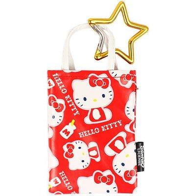 《Greens selection》日本三麗鷗凱蒂貓HELLO KITTY 附星星勾環手機袋