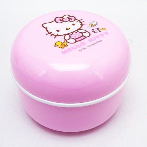東京家族 嬰幼兒粉撲盒 三麗鷗 Hello Kitty 凱蒂貓 爽身粉粉撲盒 嬰兒用品