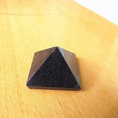 旦旦妙 藍金沙石3CM純天然白水晶黑曜石粉晶紫水晶青金石水晶金字塔接受大尺寸定做 水渺36