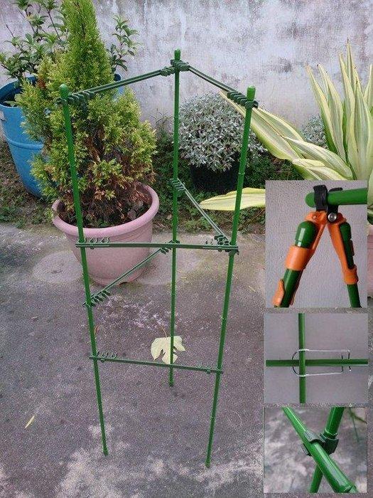 快速棚架搭設-每組5支 多段固定橫桿 8mm 11mm 專用兩種規格 番茄 茄子 碗豆 青椒 藤蔓類瓜果竹桿 竹竿