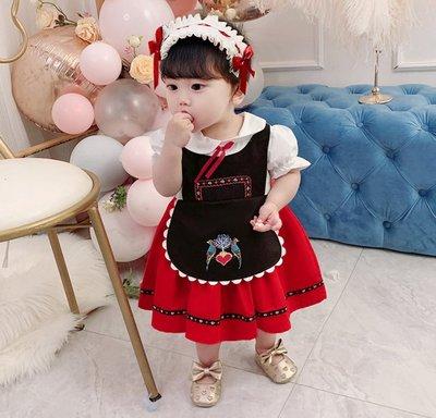 【韓菲小姐】預購~~西班牙風華麗女童洋裝(不包含頭飾)