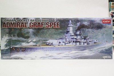 【統一模型玩具店】ACADEMY《德軍海軍 主力艦艇 ADMIRAL GRAF SPEE》 1:350 # 14103