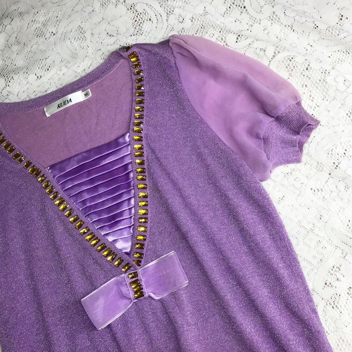 《KUDA》紫色美上衣 詳閱敍述 實拍~