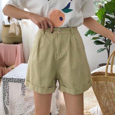 短褲女2018夏季新款韓版寬松百搭卷邊高腰顯瘦闊腿休閑牛仔褲