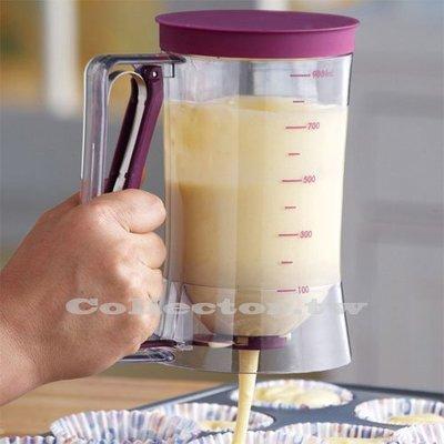 創意蒐藏家【N17031303】杯子蛋糕專用麵糊分配器 分液器 麵糊漏斗 batter dispenser 量杯
