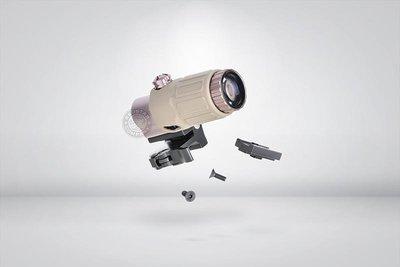 台南 武星級 複刻 G33 STS 側翻 三倍鏡 沙 ( 狙擊鏡 瞄準鏡 倍鏡 快瞄 瞄具 紅外線 紅雷射 外紅點 激光