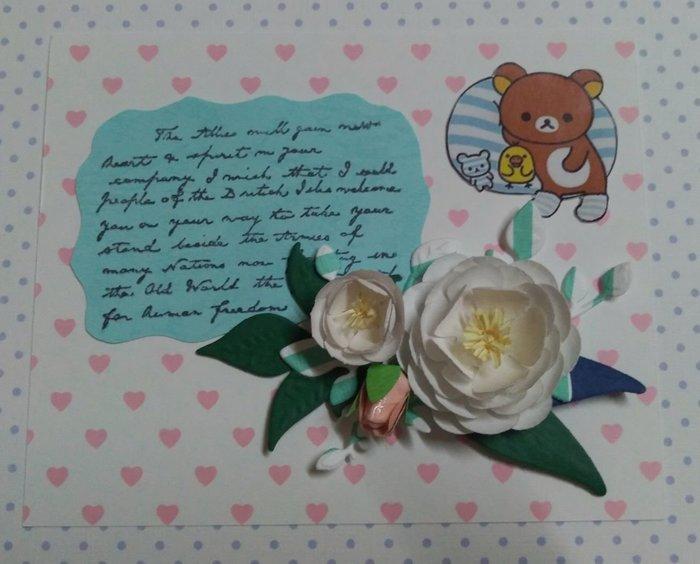 一番街手作設計家☆手作花束卡片,陸蓮花,情人節卡片,生日卡片