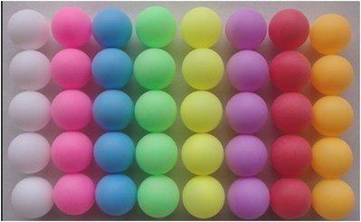 【紅海】深藍/深綠/深紅/粉/紫/橙/白/黑色, 抽獎/摸彩/遊戲用無接縫打磨彩色乒乓球_100顆190元