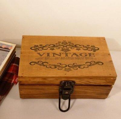 生活雜貨館☆VINTAGE秘密收藏盒 日記盒 信件盒 收納盒 帶鎖木盒 木箱 首飾盒 錢盒 鎖盒 收納箱 首飾箱