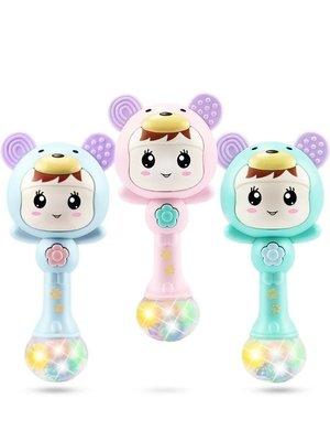 嬰兒玩具0-1歲手搖鈴音樂節奏棒男女小...