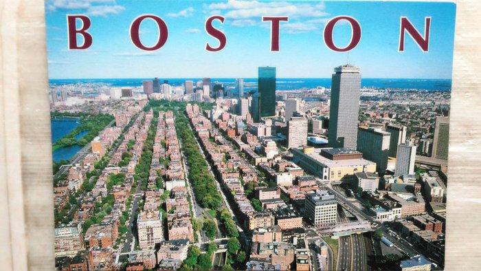 明信片   A BIRD'S EYE VIEW OF BOSTON , MASSACHUSETTS , U.S.A.