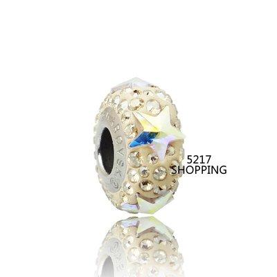 原價600元85折510元 銀飾【swarovski施華洛世奇-金星】charms 水晶 串珠A8001150123
