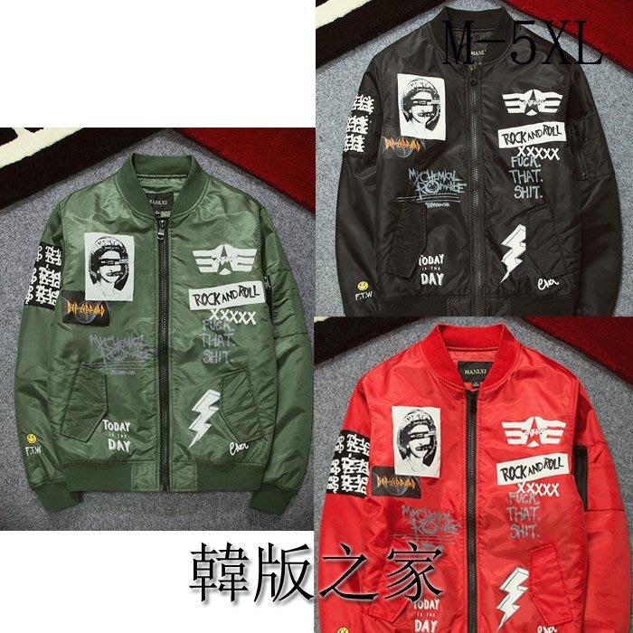 韓系飛行夾克戶外野戰訓練空軍外套  AA214