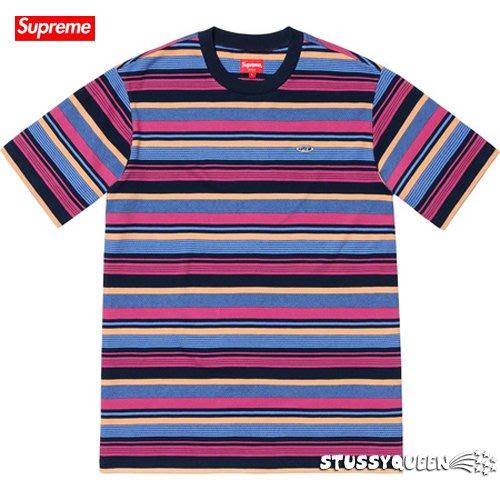 【超搶手】全新正品 2019 SS Supreme Multi Stripe SS Top 彩色 橫條T M L XL