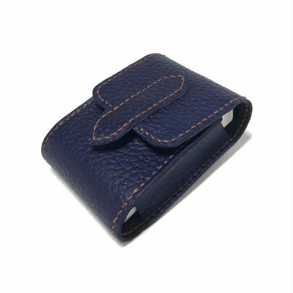 【IAN X EL】純手工真皮煙盒 適一般短煙 可腰掛