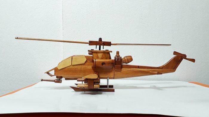 【九龍藝品】花梨木 ~ 攻 擊 直 升 機 ~ 擺飾品.木製品