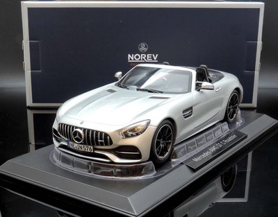 【M.A.S.H】現貨瘋狂價 Norev 1/ 18 Mercedes-Benz AMG GT C Roadster 銀 桃園市