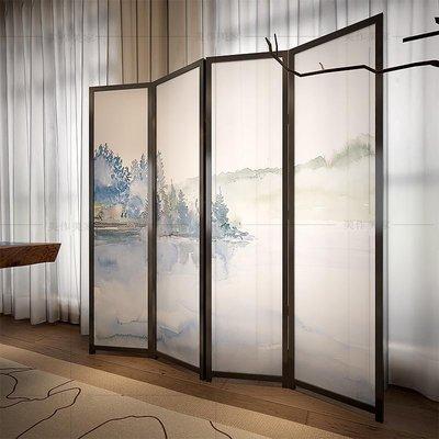 屏風 客廳隔斷 中國風新中式屏風隔斷客廳玄關餐廳臥室現代簡約小戶型時尚折疊移動折屏