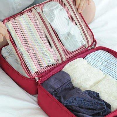 ❅PAVEE❅ 韓國Funnymade~ Partition Trunk Bag (M)孩子氣 旅行衣物收納袋(中)