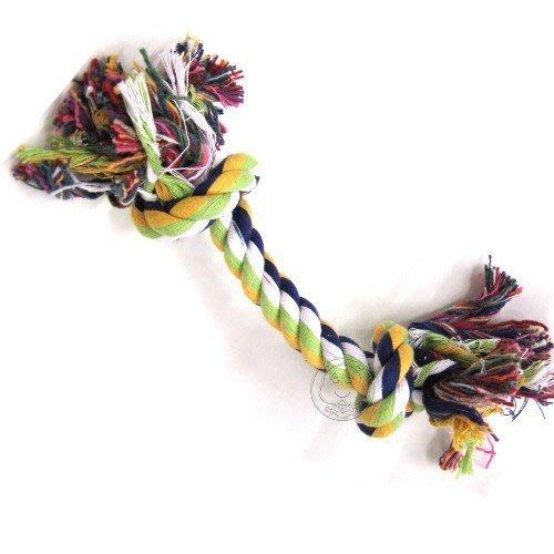 【🐱🐶培菓寵物48H出貨🐰🐹】卡哇伊》花色寵物訓練玩具綿繩咬繩-(短) 特價35元