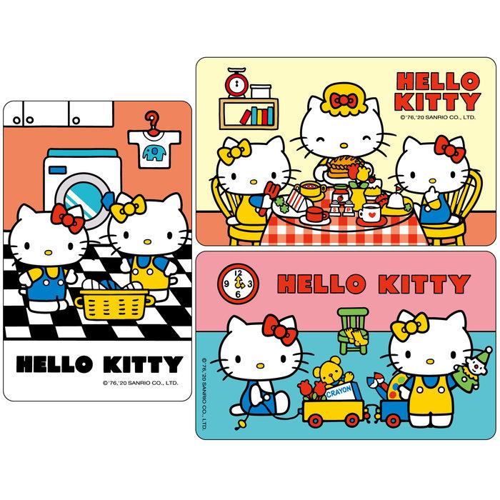 SANRIO HELLO KITTY三麗鷗凱蒂貓一起吃早餐洗衣樂一起玩遊戲悠遊卡(3張不分售)