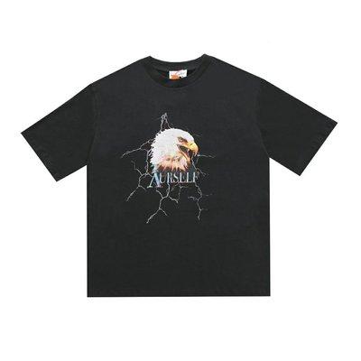 ASKYURSELF Lightning Falcon 閃電獵鷹 高街做舊水洗短袖T恤
